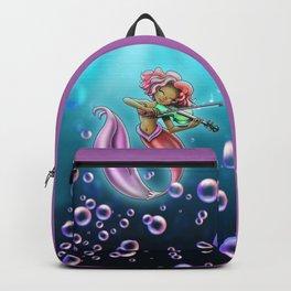 African American Mermaid and Violin Backpack