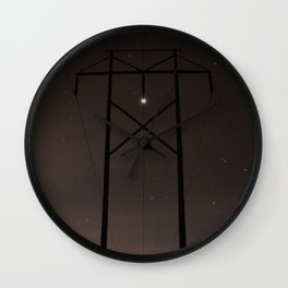 Jupiter and Powerlines Wall Clock
