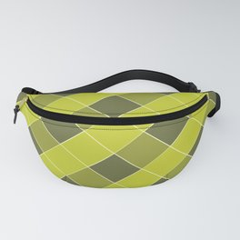 PLAID, OLIVE AND CHARTREUSE Fanny Pack