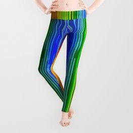 Rainbow Paint Drops on Black Leggings
