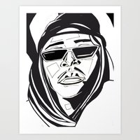 aaliyah Art Prints featuring Aaliyah by BlvckBewty