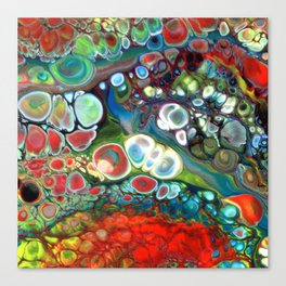 Red Yellow Green Blue Lava Flow Bubble Canvas Print