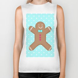 Yummy Gingerbread Man Cookie Biker Tank