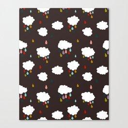 Rainclouds Black Canvas Print