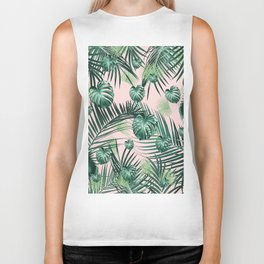 Tropical Jungle Leaves Garden #2 #tropical #decor #art #society6 Biker Tank