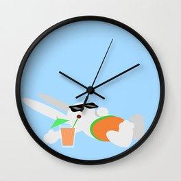 Sun Bun Beached Wall Clock