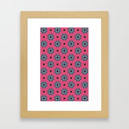 Pink and Blue Geometric Pattern Framed Art Print