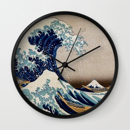 Under the Great Wave by Hokusai Wall Clock