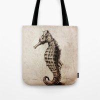 seahorse Tote Bags featuring Seahorse by Werk of Art