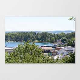 Harbor Springs Bay- View from Bluff (1) Canvas Print