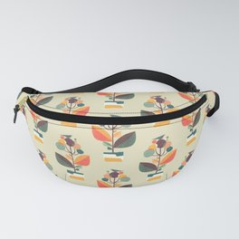 Potted plant with a bird Fanny Pack