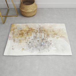 Palace Chandelier Gold Rug