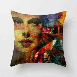 I wait for you below in the street Throw Pillow