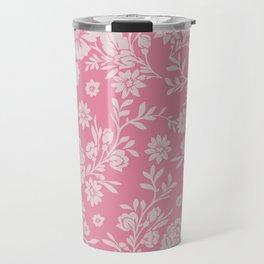 Retro or Boho Style Floral Pattern Travel Mug