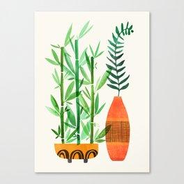 Bamboo + Fern / Botanical Illustration Canvas Print