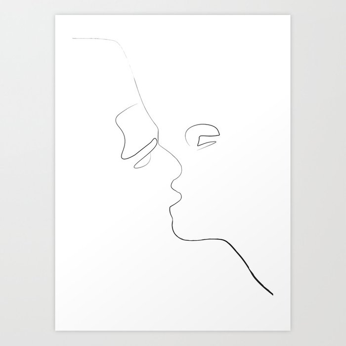 Lovers-Minimlism Art Print