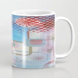Checked Background Coffee Mug
