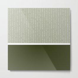 Linen Sage & Olive Metal Print
