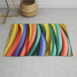 Colored Rubbers Rug