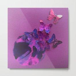 Garden Circles - Purple Metal Print