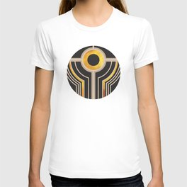 Art Deco Watching You In Black And Gold T-shirt