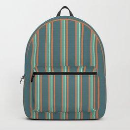 Retro Stripes Green and Orange Backpack