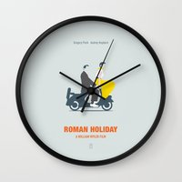roman Wall Clocks featuring Roman Holiday by Smile In The Mind