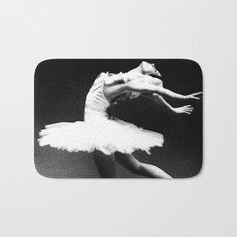 Swan Lake Ballet Magnificent Natalia Makarova black and white photograph  Bath Mat
