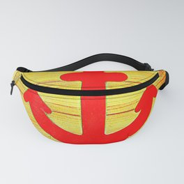 Red Anchor Icon Fanny Pack