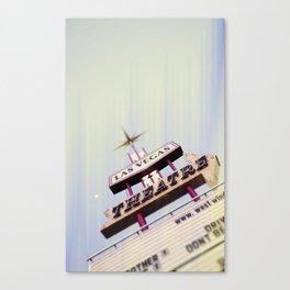 Sin City Drive-In II Canvas Print