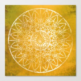 Fire Blossom - Yellow Canvas Print