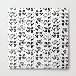 tribal in black and white / pattern Metal Print