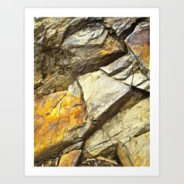 Weathered Fractures Art Print
