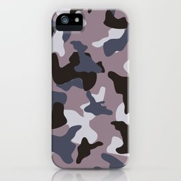Gray army camo camouflage pattern iPhone Case