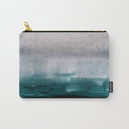 pale pink over dark teal Carry-All Pouch