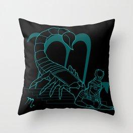 Monstrous Zodiacs: Scorpio, the goddess Serket Throw Pillow