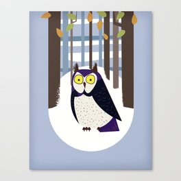 Owl in the Forest Canvas Print