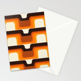 Mid-Century Modern Meets 1970s Orange Stationery Cards