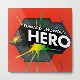 Edward Snowden Prism Hero Metal Print