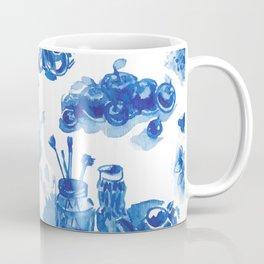 Summer history of watercolor in blue tones Coffee Mug