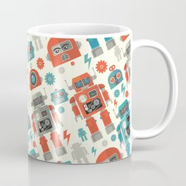 Retro Space Robot Seamless Pattern Coffee Mug