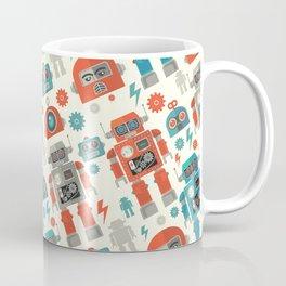 Retro Space Robot Seamless Pattern Coffee Mug