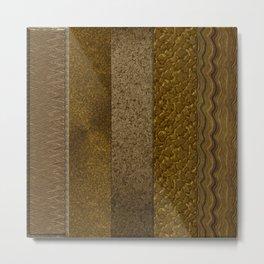Metal Copper Stripes Metal Print