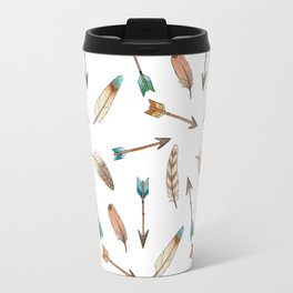 Scattered Feathers and Arrows Travel Mug