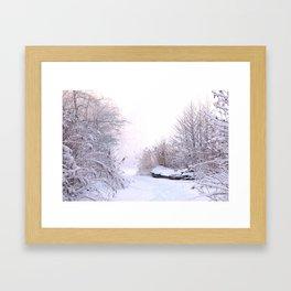 Snowy Landscape Framed Art Print