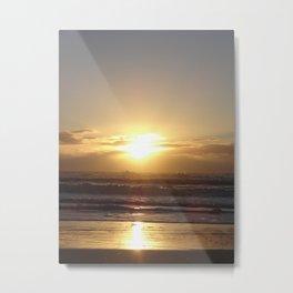 A Golden Ocean Sunrise Metal Print
