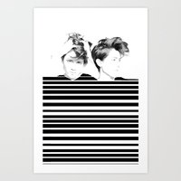 tegan and sara Art Prints featuring Tegan & Sara by MeMRB