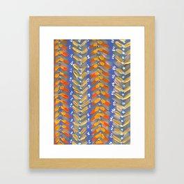 Blush Chevron Framed Art Print
