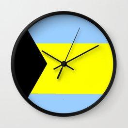 flag of Bahamas 2– Nassau,Bahamian,Bahamianese,Junkanoo,Regattas Wall Clock