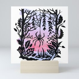 Spider Spider Spin Your Web For Night Is Coming Soon Mini Art Print